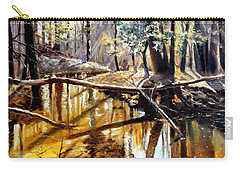 Carry-all Pouch featuring the painting  Lubianka-2-river by Henryk Gorecki