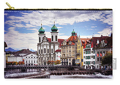 Carry-all Pouch featuring the photograph Lucerne Switzerland  by Carol Japp