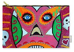 Carry-all Pouch featuring the painting Lucha Libre by Pristine Cartera Turkus