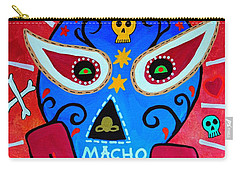 Carry-all Pouch featuring the painting Luchador by Pristine Cartera Turkus