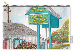 Lucia Lodge In Lucia, California Carry-all Pouch by Carlos G Groppa