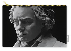 Carry-all Pouch featuring the mixed media Ludwig Van Beethoven by Daniel Hagerman