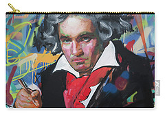 Ludwig Van Beethoven Carry-all Pouch by Richard Day
