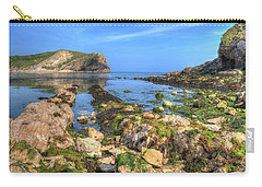 Lulworth Cove Entrance Carry-all Pouch by Hazy Apple