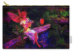 Carry-all Pouch featuring the photograph Luminescent Night Fairy by Lori Seaman