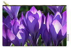 Carry-all Pouch featuring the photograph Luminous Floral Geometry by Byron Varvarigos