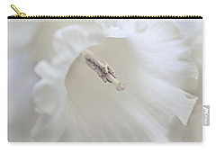 Carry-all Pouch featuring the photograph Luminous Ivory Daffodil Flower by Jennie Marie Schell