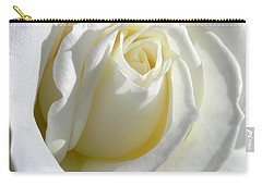 Luminous Ivory Rose Carry-all Pouch