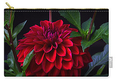 Luminous Red Dahlia Carry-all Pouch