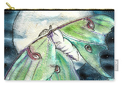Luna Moth Full Moon Carry-all Pouch