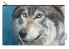 Carry-all Pouch featuring the painting Luna by Sherry Shipley