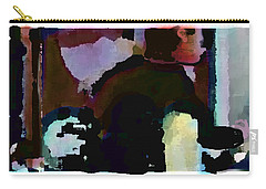 Carry-all Pouch featuring the painting Lunch Counter by Steve Karol