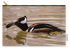 Lunchtime For The Hooded Merganser Carry-all Pouch