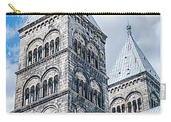Carry-all Pouch featuring the photograph Lund Cathedral In Sweden by Antony McAulay