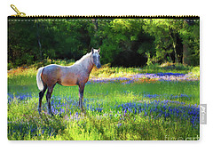 Carry-all Pouch featuring the photograph Lupine Delight by Melinda Hughes-Berland