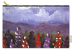 Carry-all Pouch featuring the painting Lupine Land #1 by Anastasiya Malakhova