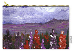 Carry-all Pouch featuring the painting Lupine Land #2 by Anastasiya Malakhova