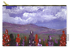 Carry-all Pouch featuring the painting Lupine Land #3 by Anastasiya Malakhova