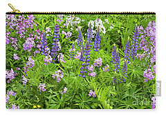 Carry-all Pouch featuring the photograph Lupines And Dames Rocket by Alan L Graham
