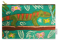 Lurking Iguana Carry-all Pouch by Brandon Drucker