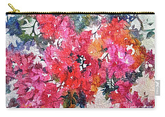 Carry-all Pouch featuring the painting Luscious Bougainvillea by Michelle Abrams