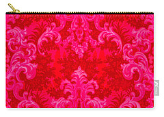 Luscious Neo Baroque Hot Pink Bubblegum Damask Carry-all Pouch