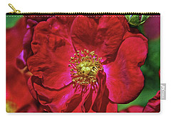 Carry-all Pouch featuring the mixed media Luscious Red With Effects by Lynda Lehmann