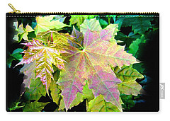 Carry-all Pouch featuring the mixed media Lush Spring Foliage by Will Borden