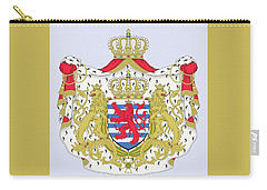 Carry-all Pouch featuring the drawing Luxembourg Coat Of Arms by Movie Poster Prints