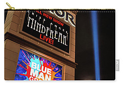 Luxor Pyramid Casino Sign At Night Carry-all Pouch by Aloha Art