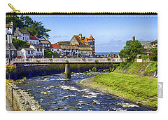 Lynmouth Coastal Town, Devon, Uk Carry-all Pouch