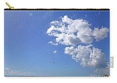 Carry-all Pouch featuring the digital art M Day At The Beach 2 by Francesca Mackenney