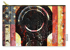 M1911 Colt 45 On Rusted American Flag Carry-all Pouch