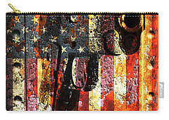 M1911 Silhouette On Rusted American Flag Carry-all Pouch