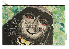 Macaque Monkey Carry-all Pouch