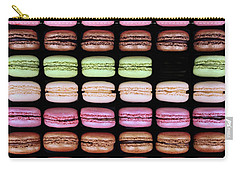 Carry-all Pouch featuring the photograph Macarons - One Missing by Nikolyn McDonald