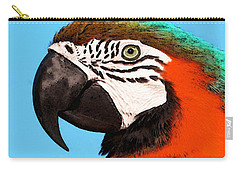 Macaw Bird - Rain Forest Royalty Carry-all Pouch by Sharon Cummings