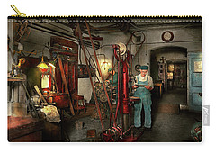 Carry-all Pouch featuring the photograph Machinist - Government Approved 1919 by Mike Savad