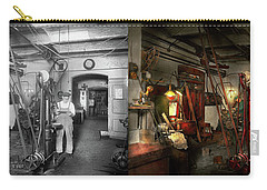 Carry-all Pouch featuring the photograph Machinist - Government Approved 1919 - Side By Side by Mike Savad