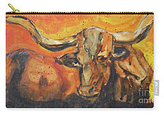 Macho Longhorn Carry-all Pouch by Ron Stephens