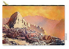 Carry-all Pouch featuring the painting Machu Picchu Sunset by Ryan Fox