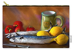 Mackerels, Lemons And Tomatoes Carry-all Pouch