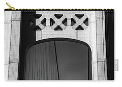 Mackinac Bridge Detail 10 Bw Carry-all Pouch by Mary Bedy