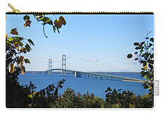 Mackinac Bridge In Early Fall Carry-all Pouch