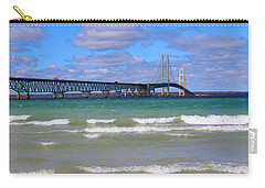 Mackinac Bridge Carry-all Pouch by Michael Rucker