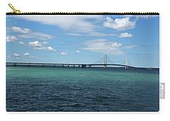 Mackinac Bridge Carry-all Pouch by Scott Cunningham