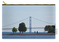 Mackinac Island Panorama With The Mighty Mac Carry-all Pouch