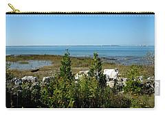 Carry-all Pouch featuring the photograph Mackinac Island View Of Bridge by LeeAnn McLaneGoetz McLaneGoetzStudioLLCcom