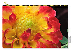 Macro Dahlia Carry-all Pouch