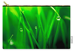 Macro Image Of Fresh Green Grass Carry-all Pouch